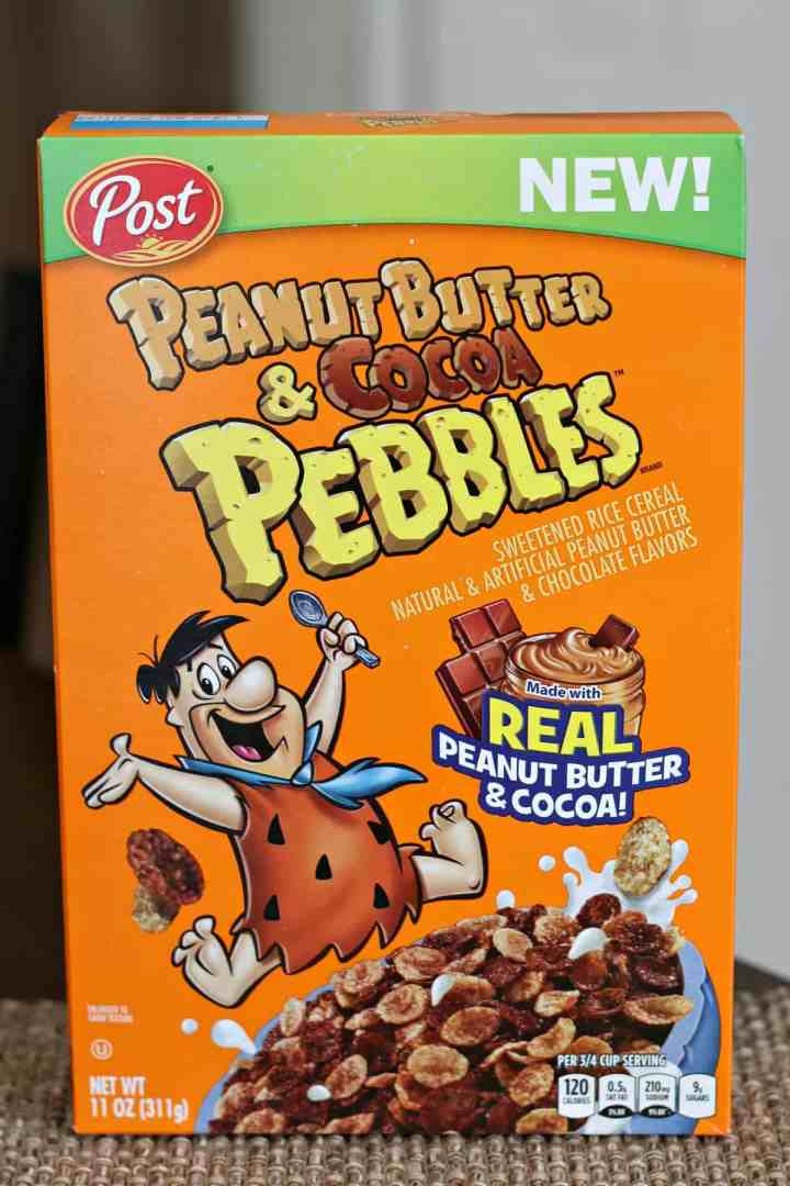 Box of Peanut Butter and Cocoa Pebbles