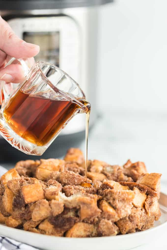 Instant Pot French Toast out of pot