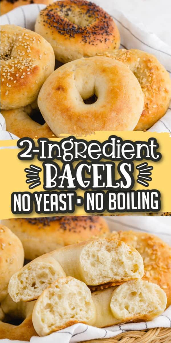 2 Ingredients Bagel - Pinterest Image