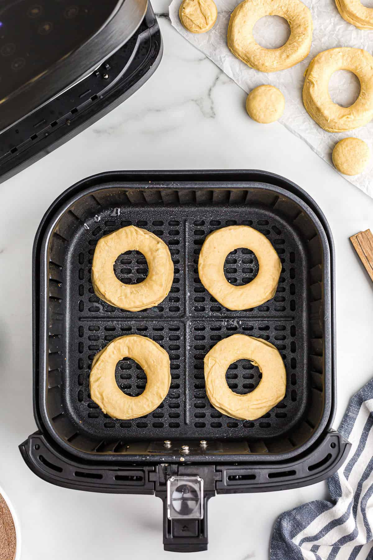 Place cookies in the air fryer basket