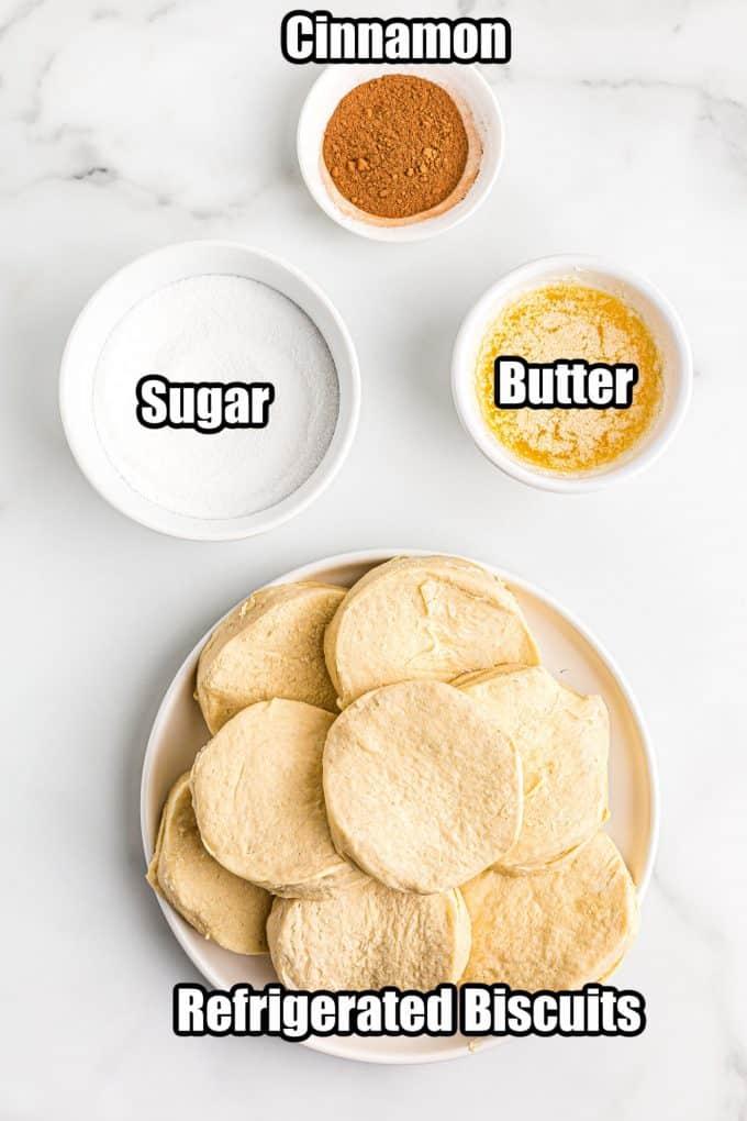 Air Fryer Cinnamon Donuts Ingredients