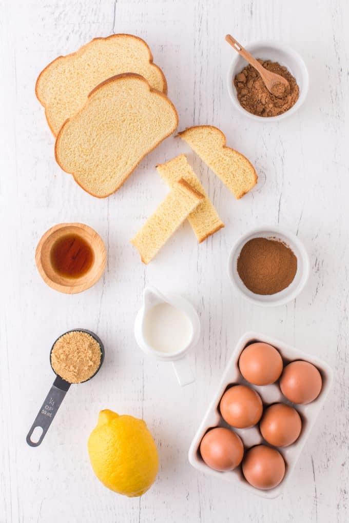 Air Fryer French Toast Sticks Ingredients