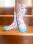 Rainbow socks FO#3