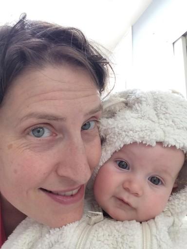 Abigail and newborn Madison