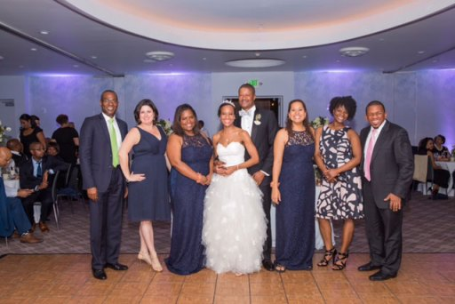 Wright-Baker wedding party