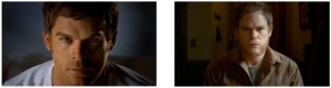 (left) a shot of Dexter from credit sequence; (right) the parting shot of the series