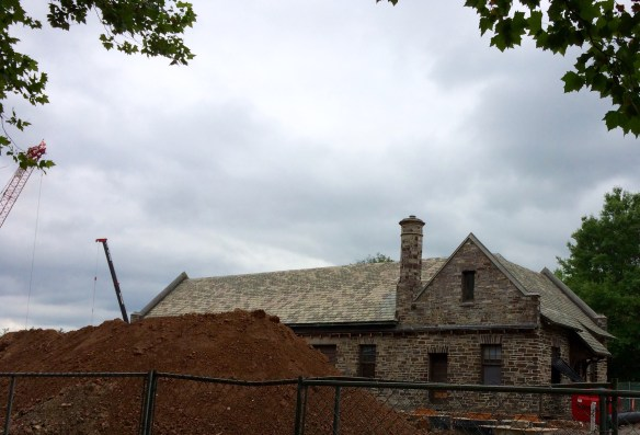 Under Construction: Two former Dinky station buildings will be transformed into a bar and a restaurant. (File photo June 2014).