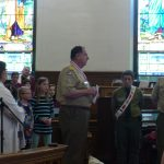 On April 10, Boy Scout Sunday, Doug Fullman was honored