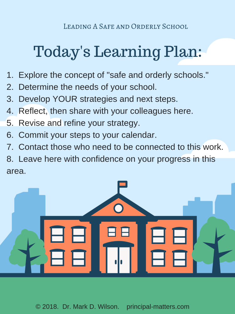 Safe and Orderly School Learning Plan