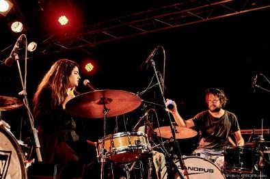 Reverend Beat-Man & the New Wave @ B-Sides Festival Nicole Izobel Garcia, Reverend Beat-Man, Resli Burri, Mario Batkovic & Julian Sartorius © 16.06.2018 Patrick Principe