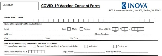 Have You Actually Read a COVID19 Vaccine Consent Form Yet? Nn