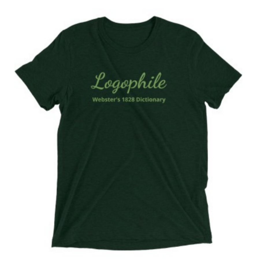Logophile Websters 1828 Dictionary T-Shirt