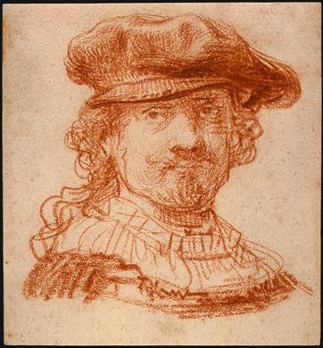 Rembrandt van Rijn, silverpoint drawing