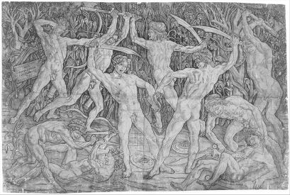 """Battle of the Nude Men,"" Antonio PollaiuoloP"