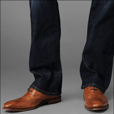 dress shoes and jeans