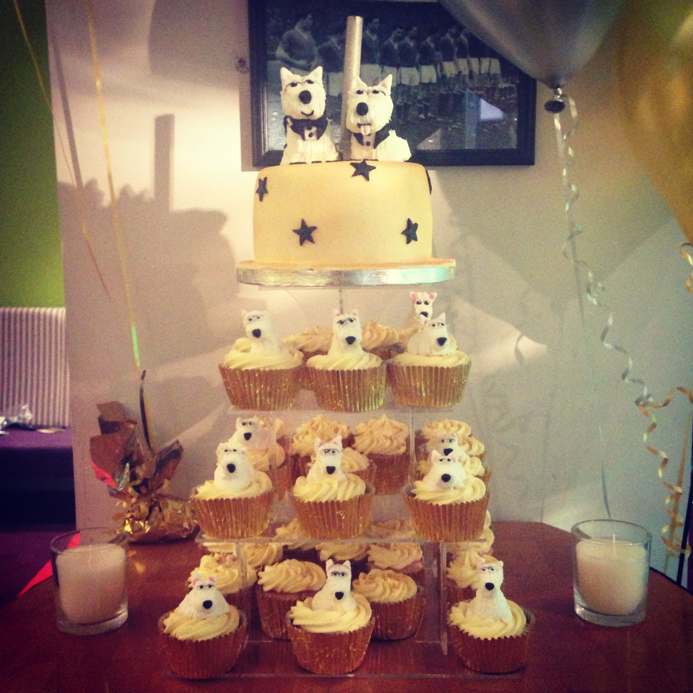 Westie Dog Birthday Cake And Cupcakes Princess In The