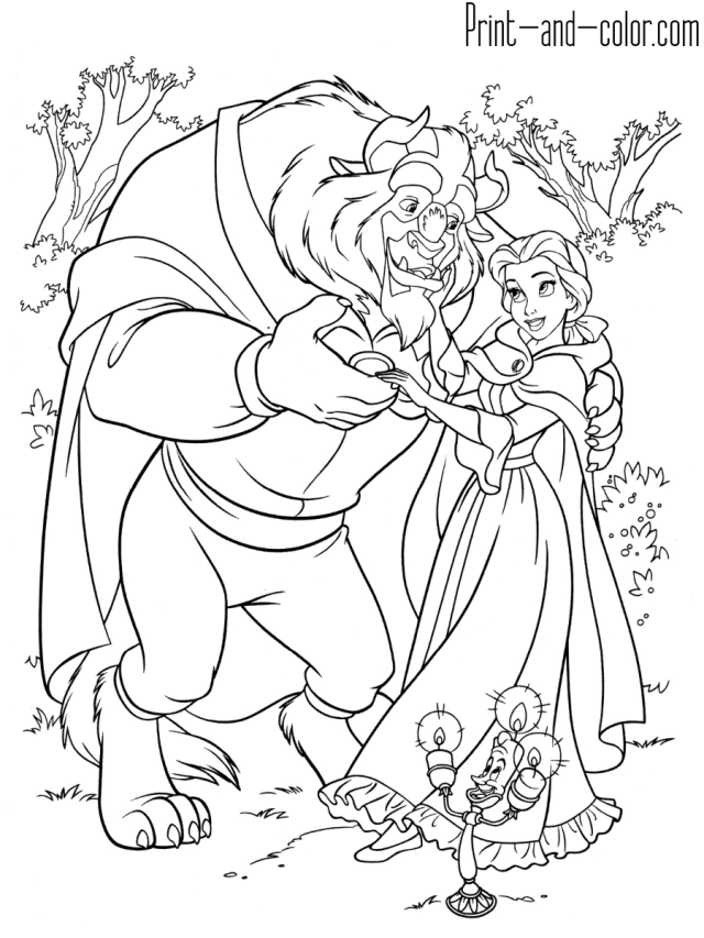 Beauty and the Beast coloring pages  Print and Color.com
