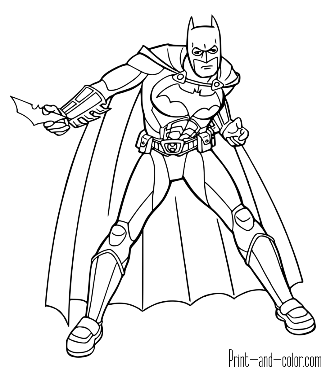 Batman Coloring Worksheet