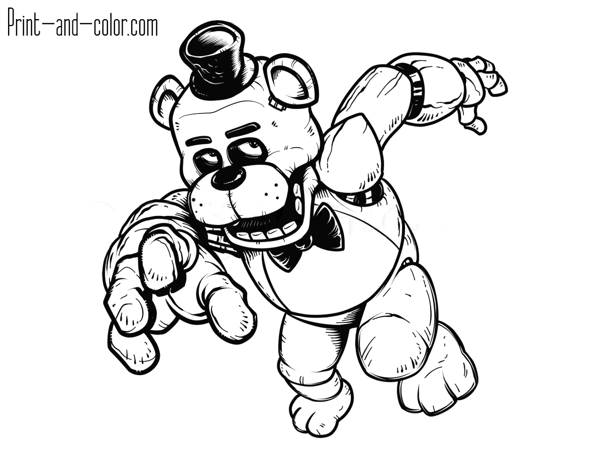 Five Nights At Freddys Coloring Pages Poster Coloring Pages