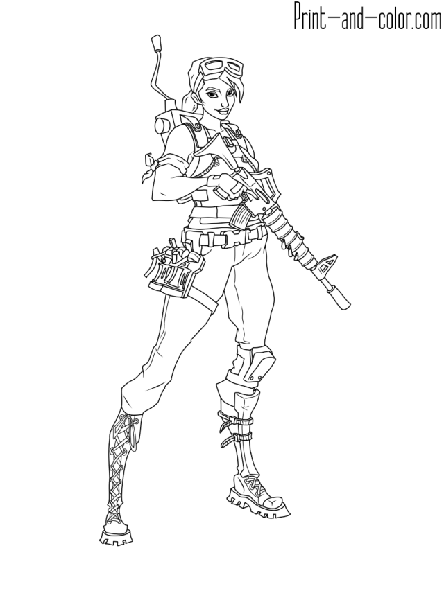 Fortnite coloring pages  Print and Color.com