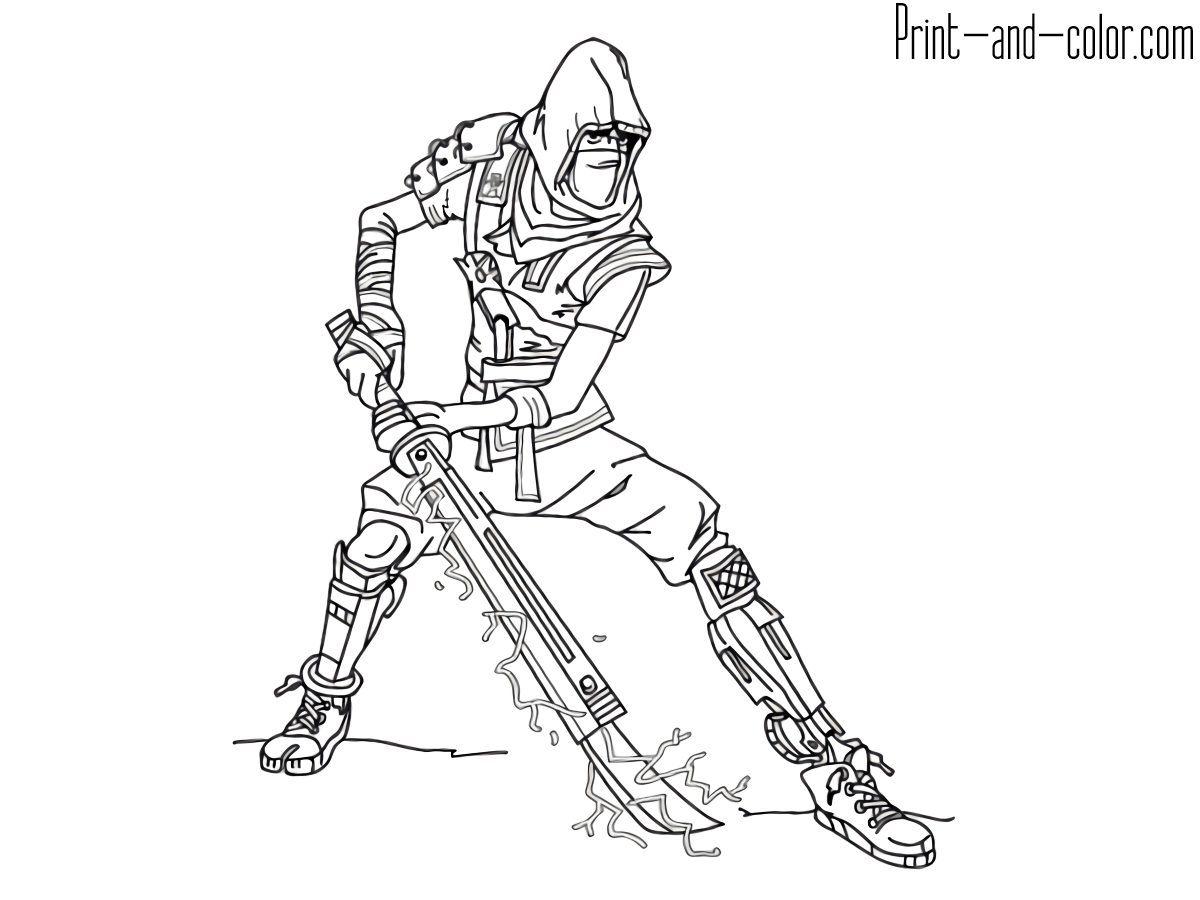 Fortnite Coloring Pages Recon Expert