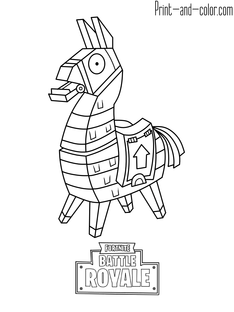 Ninja Skin Fortnite Coloring Pages