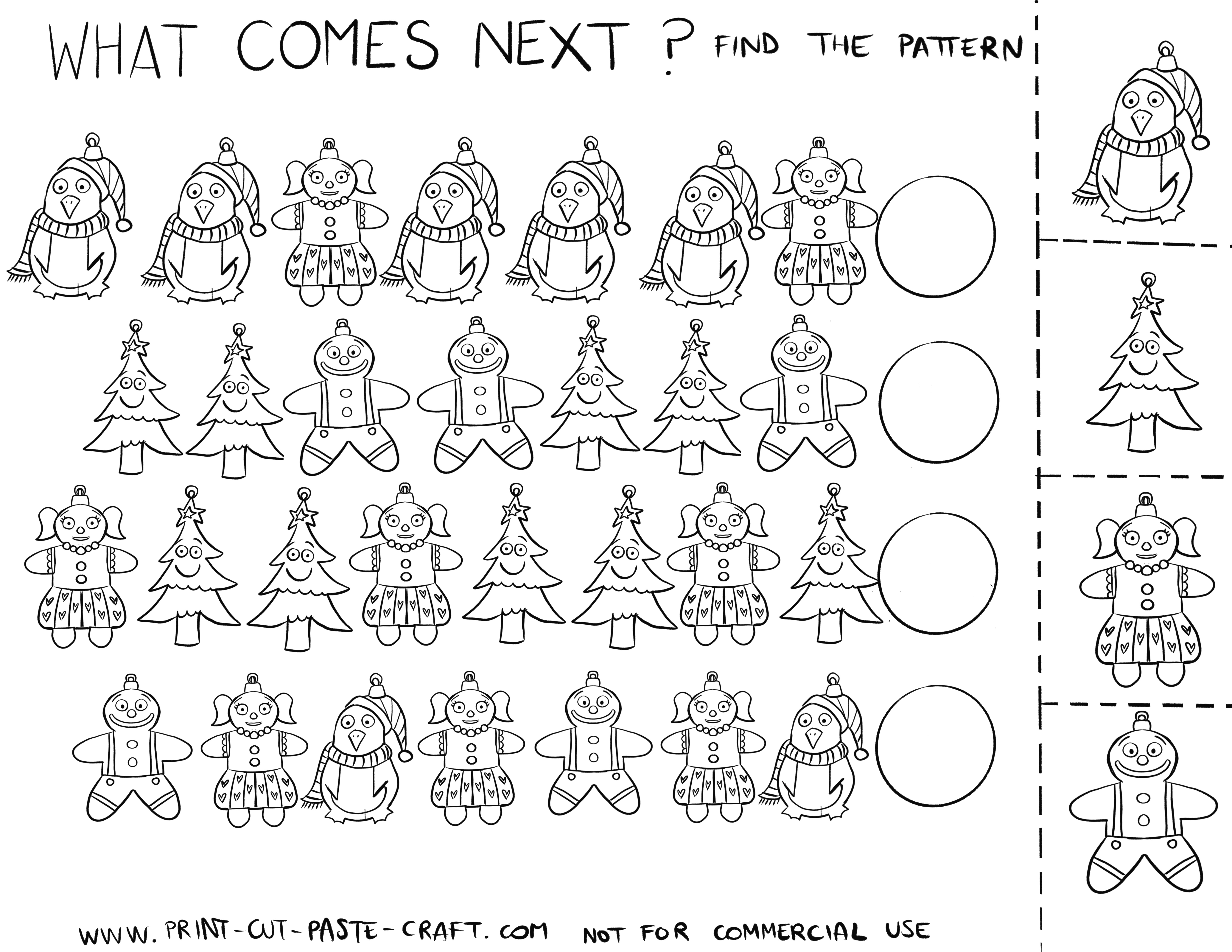 Christmas Pattern Activity Page 2