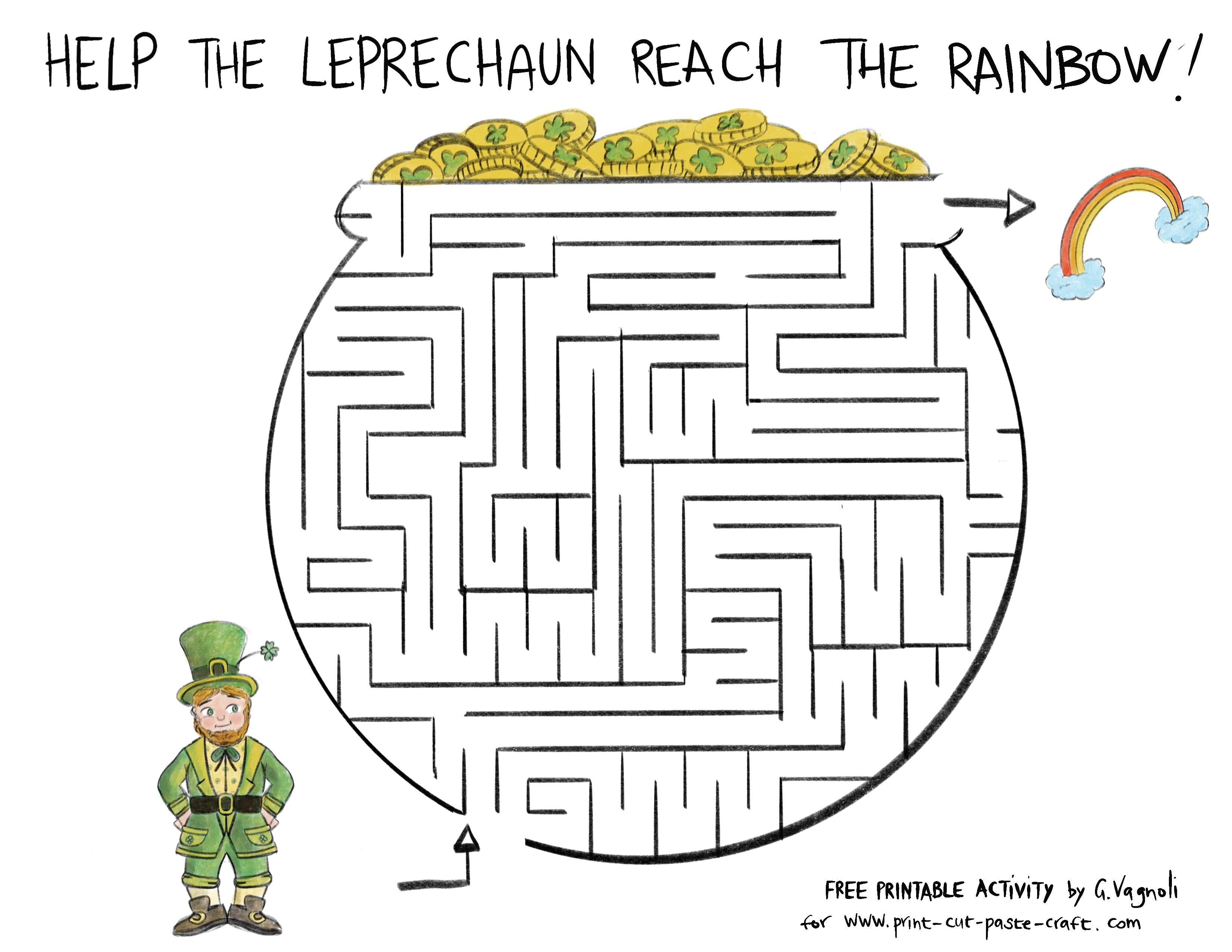 Free Printable Saint Patrick S Day Maze