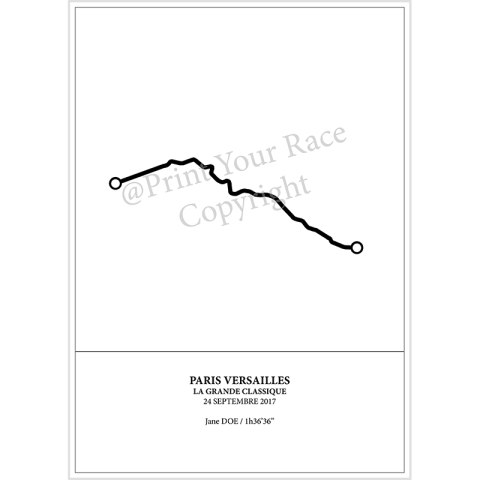 Paris Versailles 2017 poster by Print Your Race