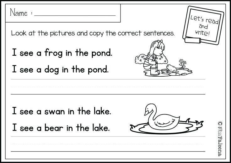 Worksheets On Writing Sentences For Kindergarten – Kids Worksheets