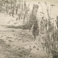 River Cam Lithograph crop