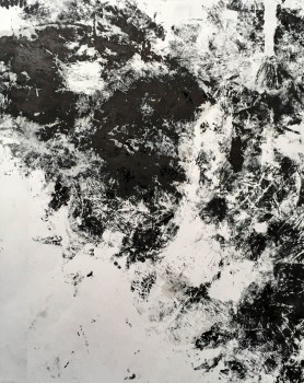 Black ink abstract