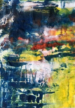Abstract in style of Richter
