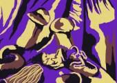 Mushrooms colour experiments