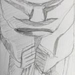 African statue sketch 3