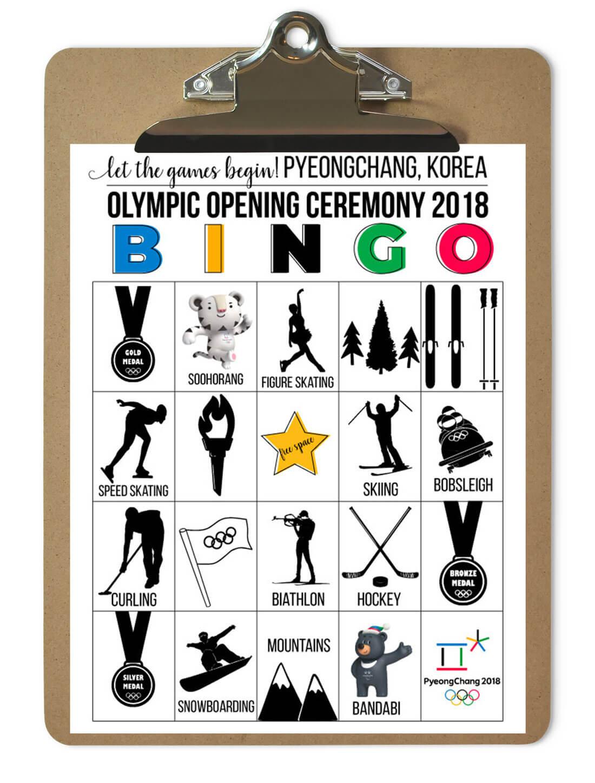 Printable Winter Olympic Bingo Cards