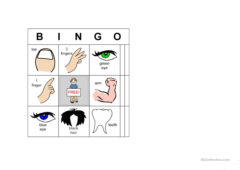 Body Parts Bingo 1