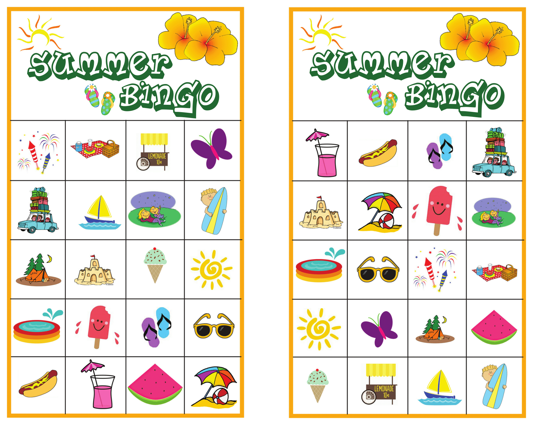 Printable Picture Bingo Cards For Kids
