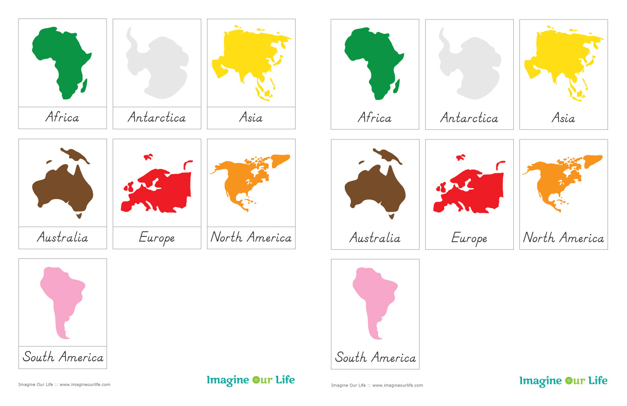 7 Continents Printable Puzzle
