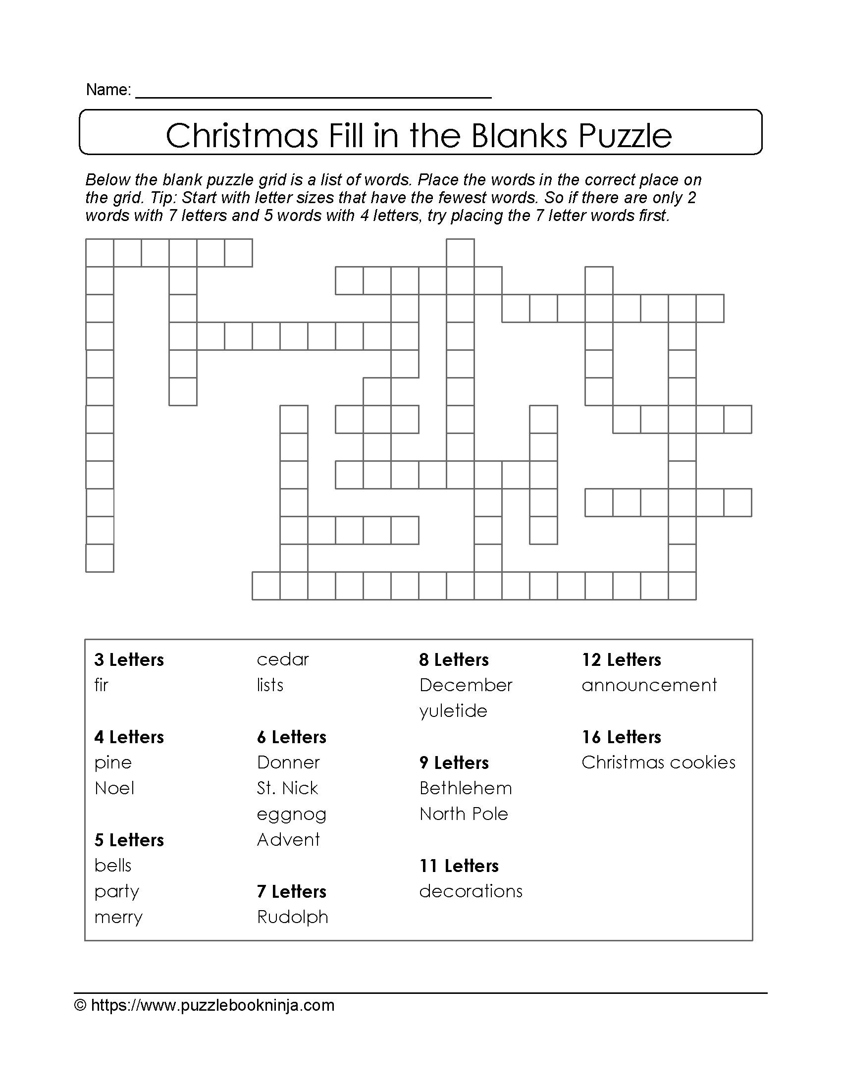 Printable Puzzles For 10 Year Olds