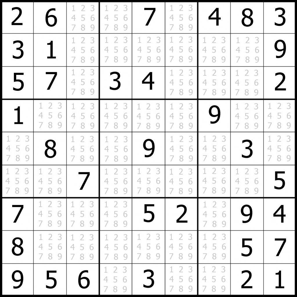 Printable Sudoku Puzzles Easy 1