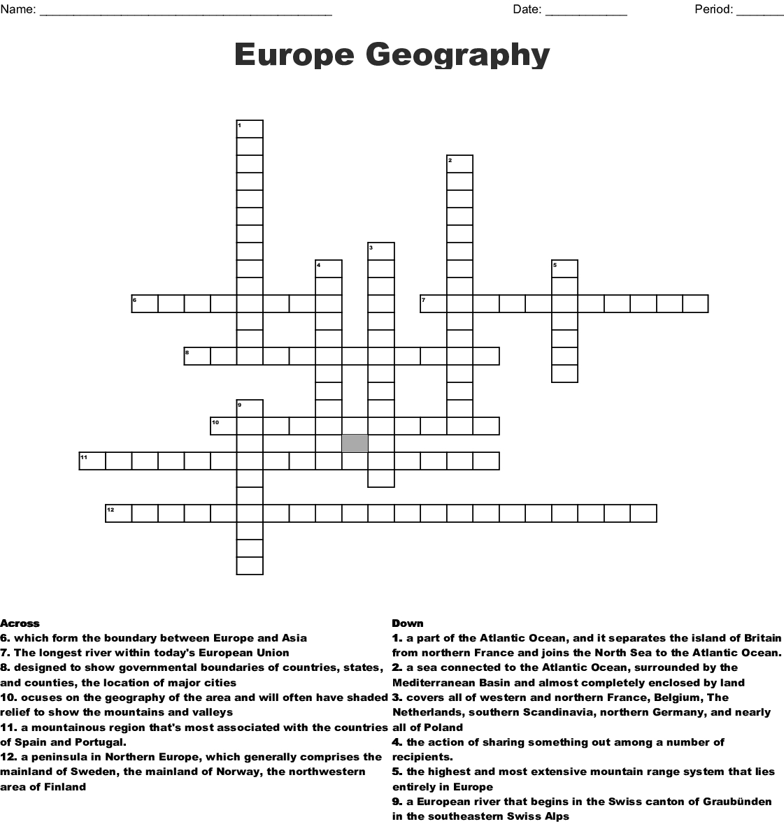 World Geography Word Search