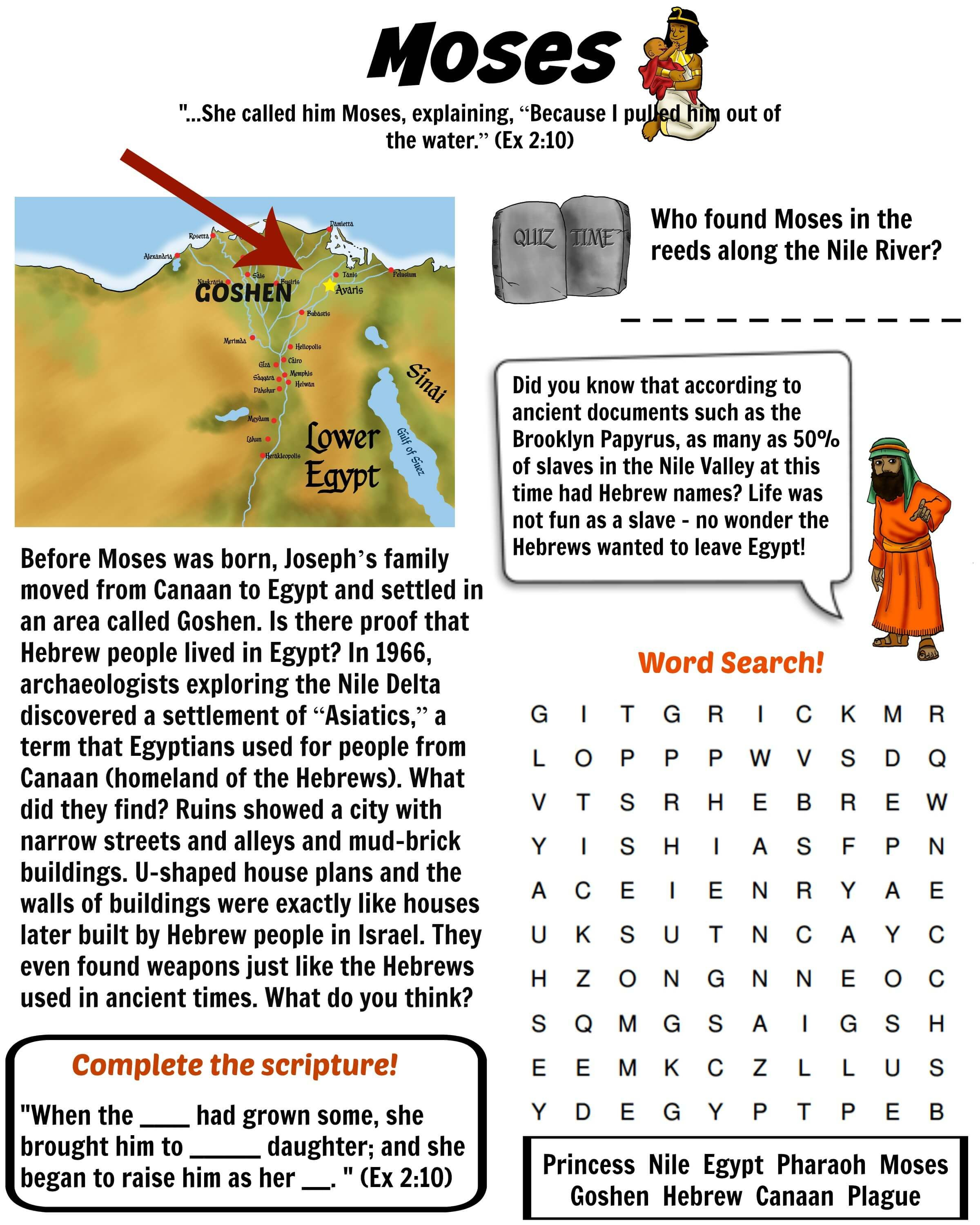 Ten Plagues Of Egypt Word Search Puzzle