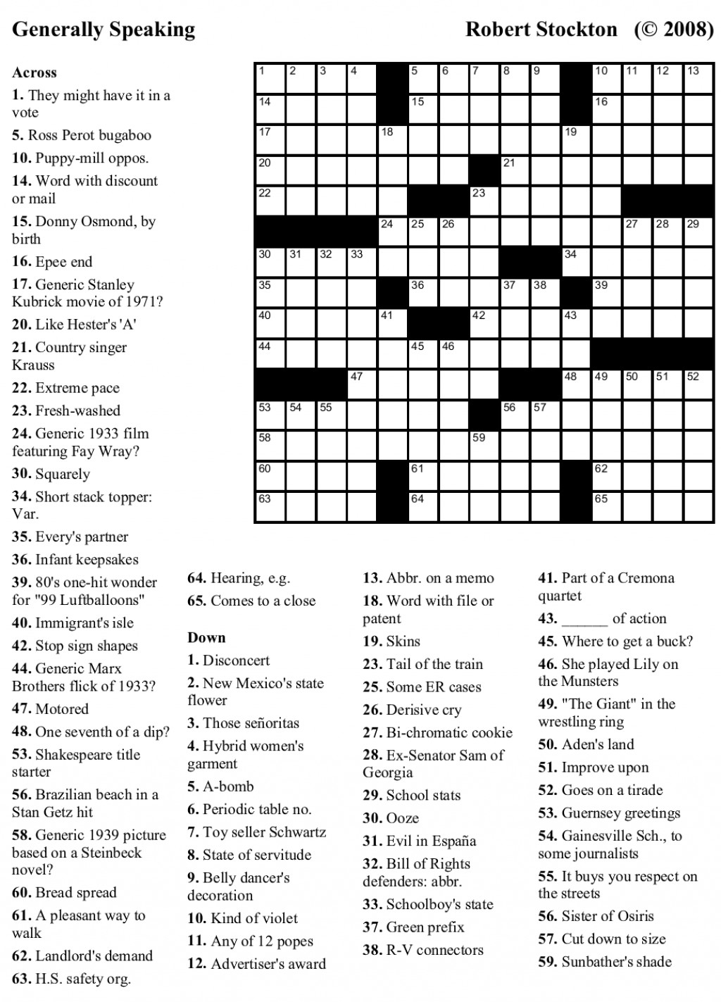 Printable Crosswords For 9 Year Olds