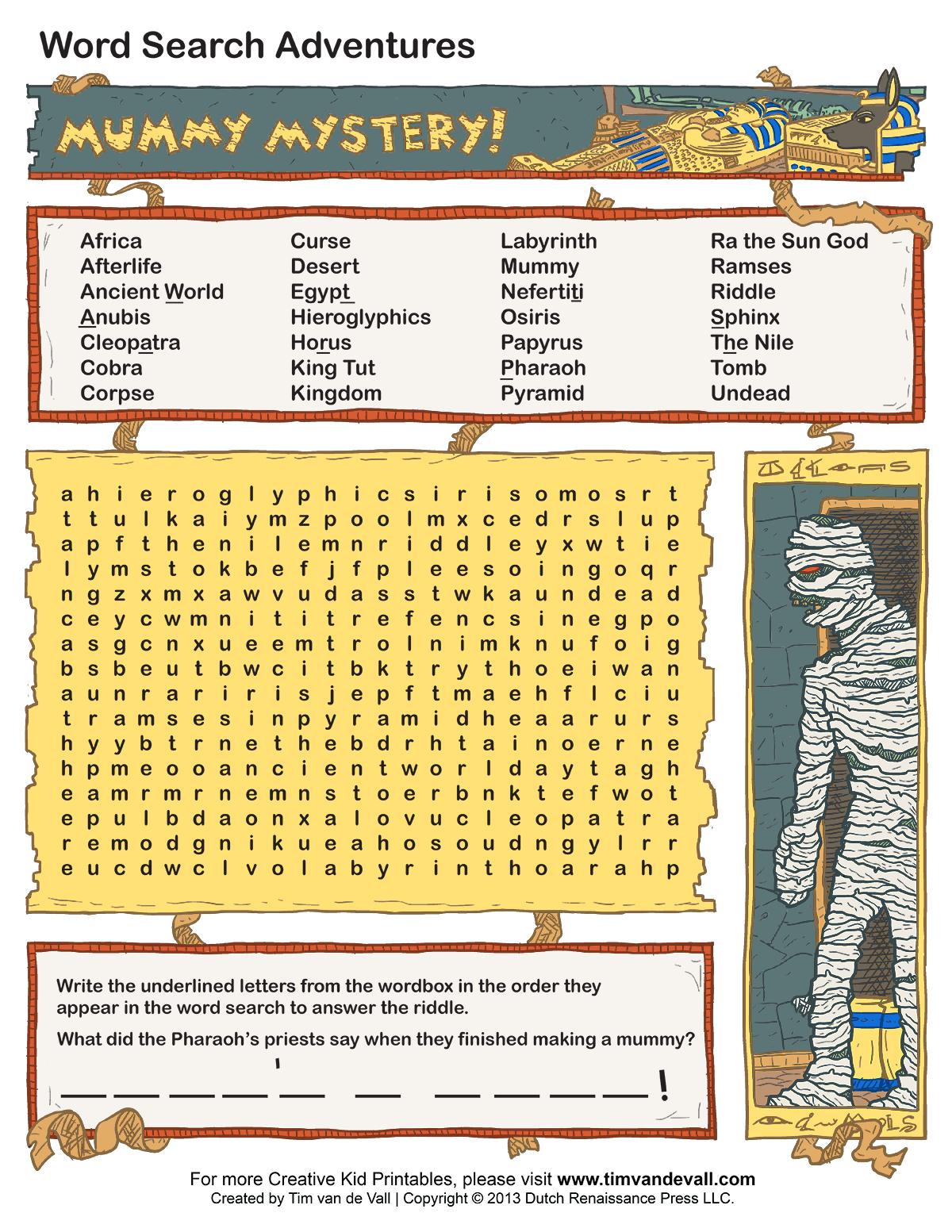 Printable Lexicon Puzzles