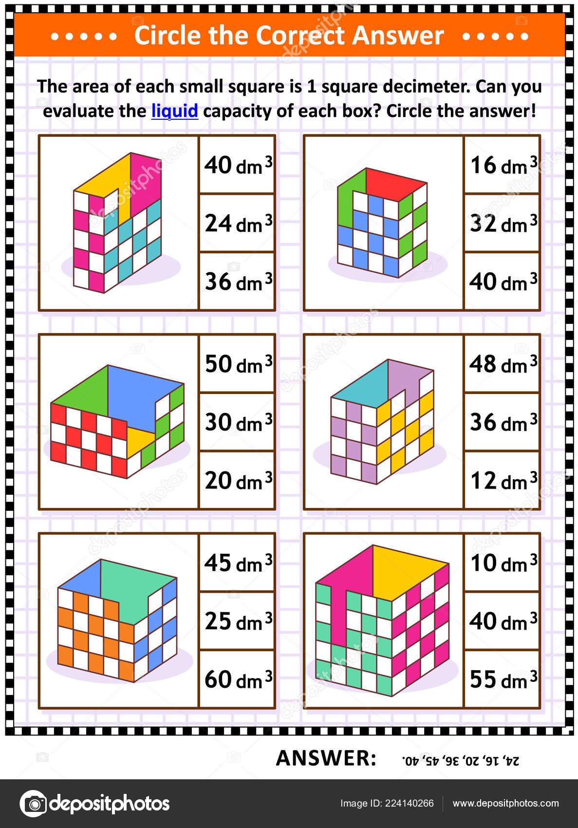 Math Skills Training Visual Puzzle Worksheet Evaluate