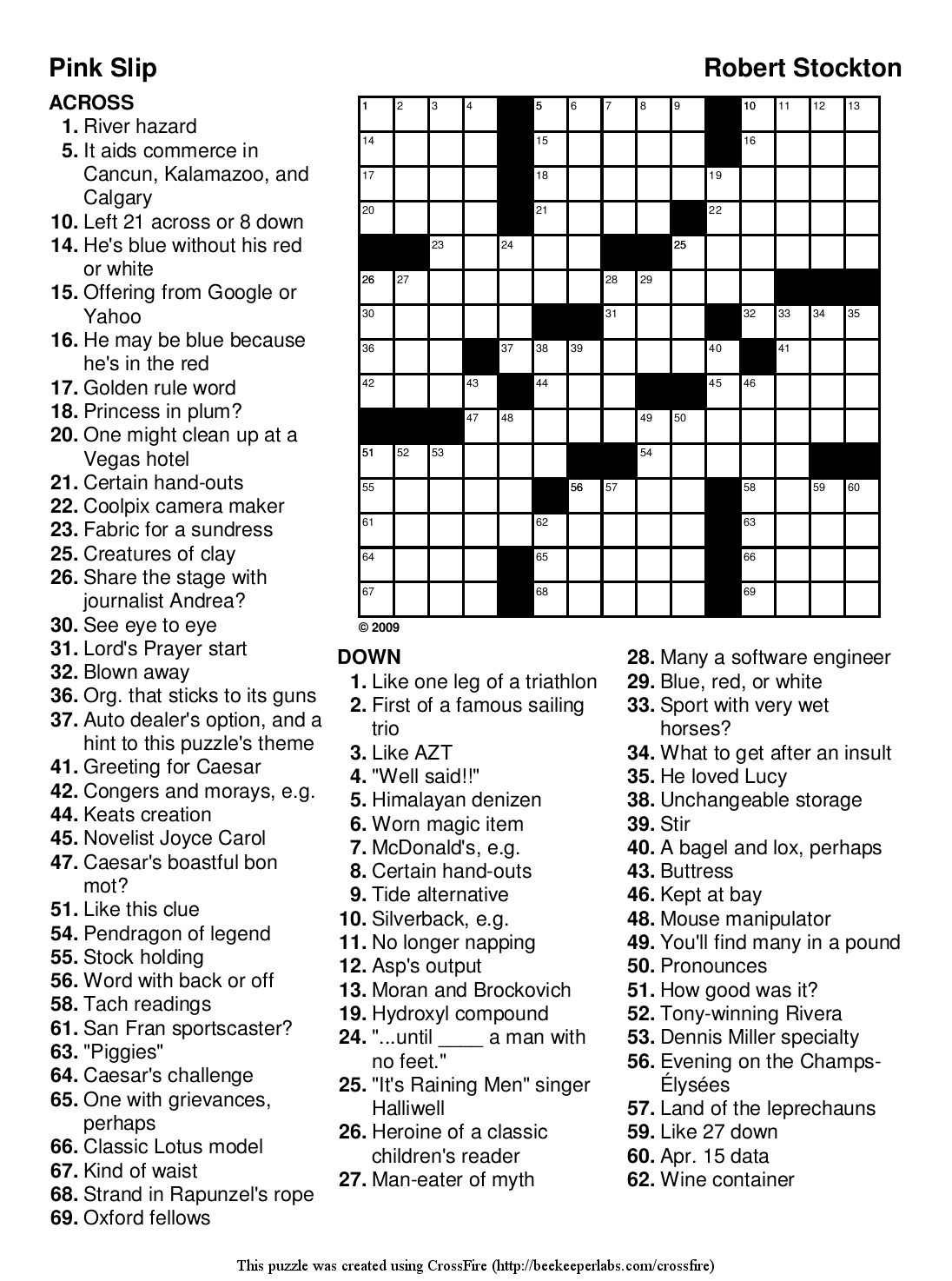 Coloring Splendi Large Print Crossword Puzzles Photo