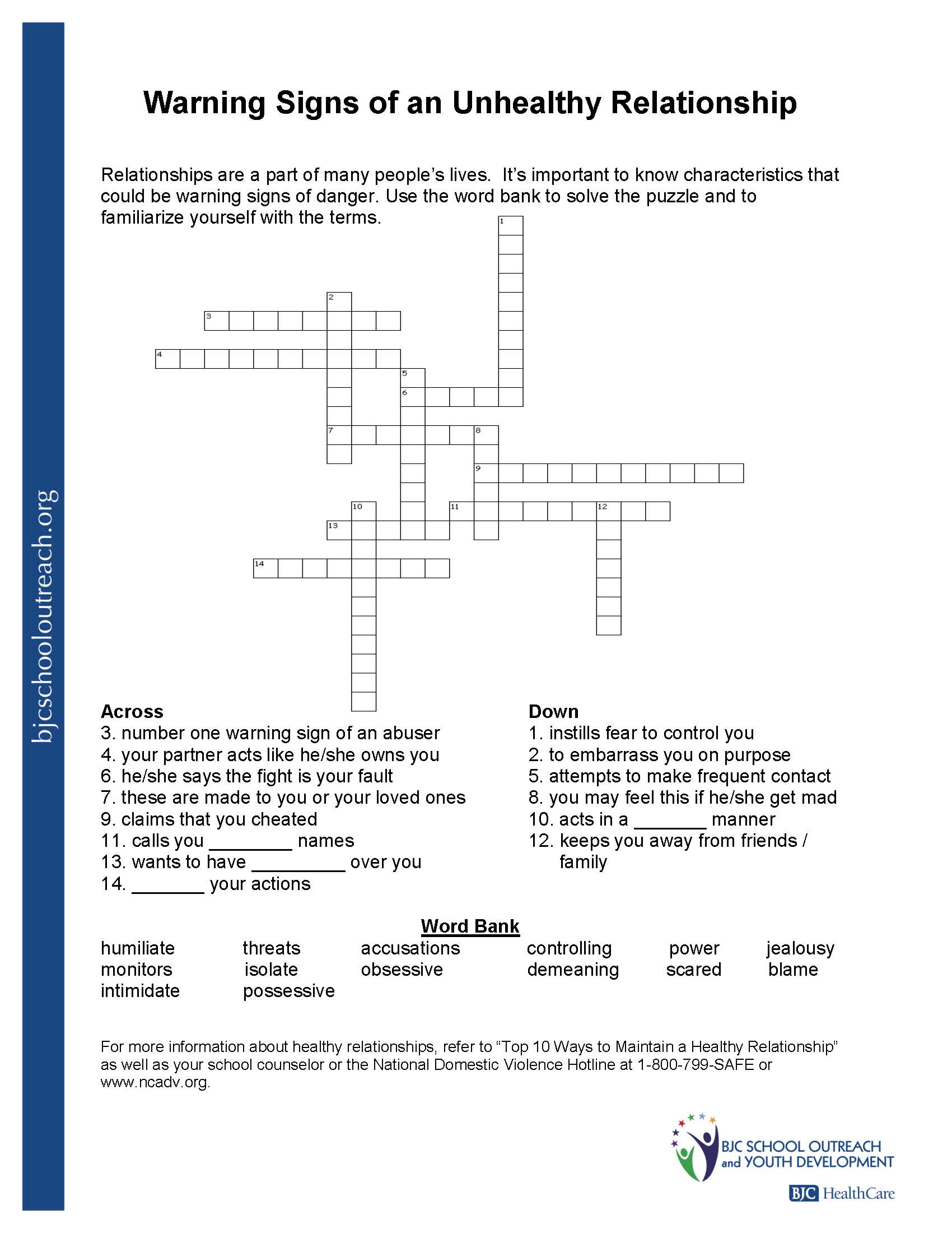 Free Printable Recovery Crossword Puzzles