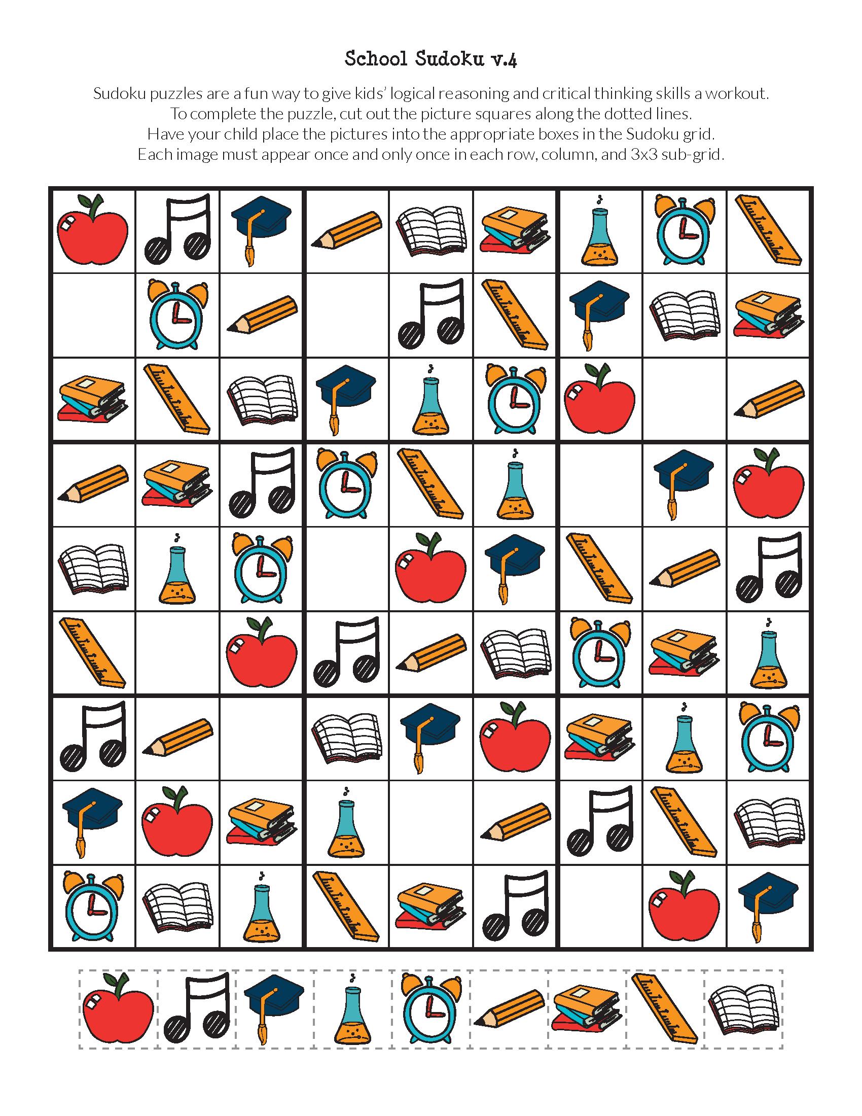 Printable Sudoku Puzzles 3x3