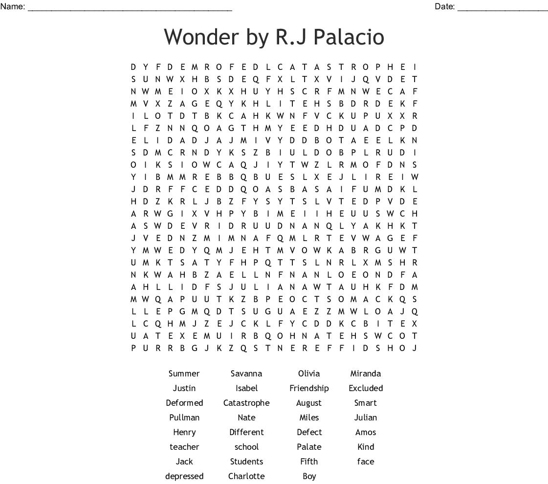 Printable Wonderword Puzzles